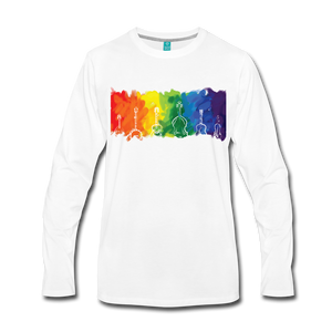 Men's Bluegrass Rainbow Long Sleeve Shirt - white