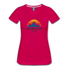 Load image into Gallery viewer, Women's Mountain Life Shirt - dark pink