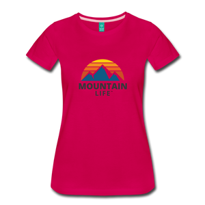 Women's Mountain Life Shirt - dark pink