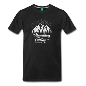 Men's Mountains T-Shirt (white) - black
