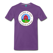 Load image into Gallery viewer, Men's Followed my Heart (colored) T-Shirt - purple
