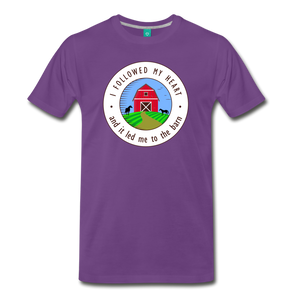 Men's Followed my Heart (colored) T-Shirt - purple