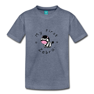 Toddler My First Zebra T-Shirt - heather blue
