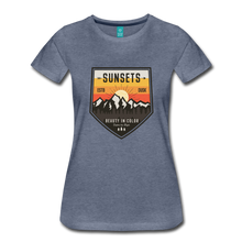 Load image into Gallery viewer, Women's Sunset T-Shirt - heather blue