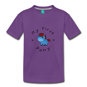 Kids' My First Pony T-Shirt (blue) - purple