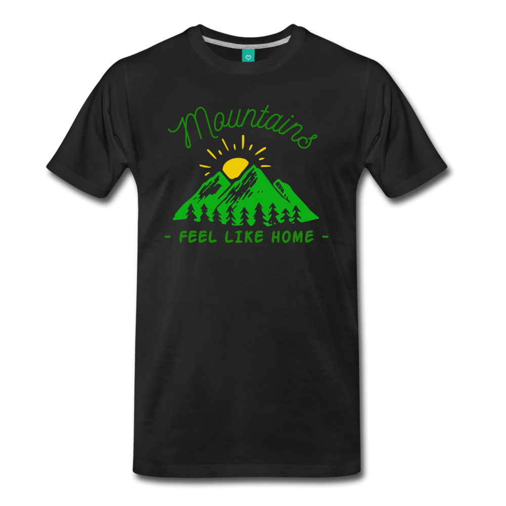 Men's Mountains Feel Like Home T-Shirt - black