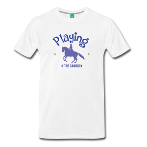 Men's Playing in the Sandbox T-Shirt - white
