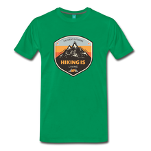 Load image into Gallery viewer, Men's Hiking T-Shirt - kelly green