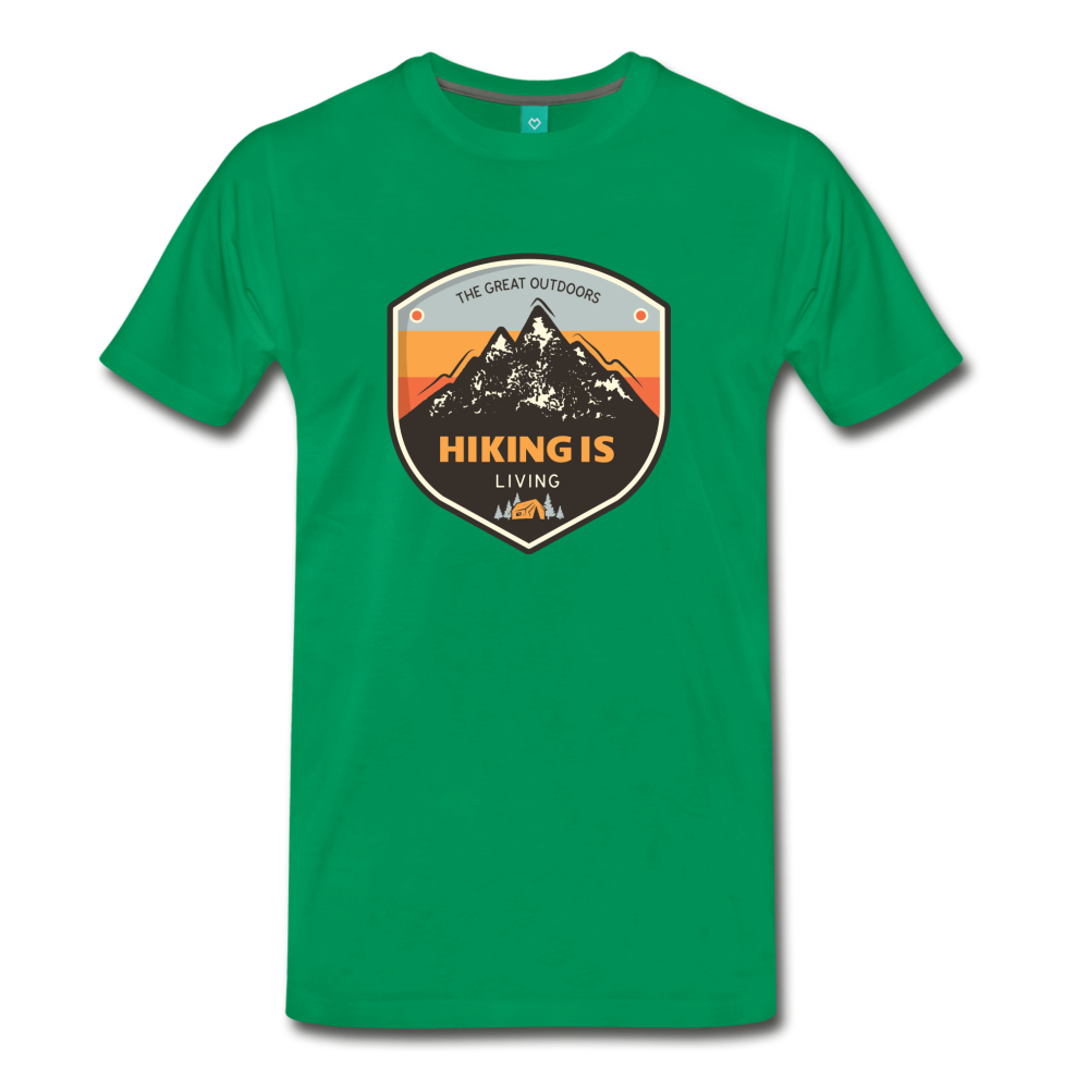 Men's Hiking T-Shirt - kelly green