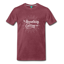 Load image into Gallery viewer, Men's Mountain Calling T-Shirt (white) - heather burgundy
