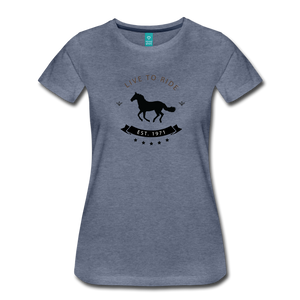 Women's Live to Ride T-Shirt - heather blue