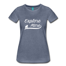 Load image into Gallery viewer, Women's Explore More T-Shirt - heather blue