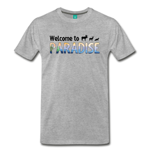 Load image into Gallery viewer, Men's Welcome to Paradise T-Shirt - heather gray