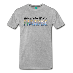 Men's Welcome to Paradise T-Shirt - heather gray