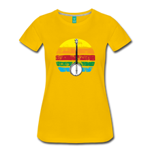 Load image into Gallery viewer, Women's Banjo Rainbow T-Shirt - sun yellow