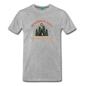 Men's Keep Calm, Camp On - heather gray