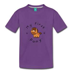 Kids' My First Pony T-Shirt (light brown) - purple