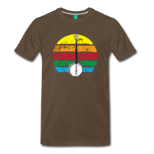 Load image into Gallery viewer, Men's Banjo Rainbow T-Shirt - noble brown