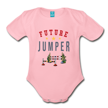 Load image into Gallery viewer, Future Jumper Baby Bodysuit - light pink