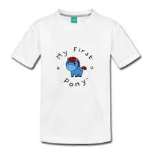 Load image into Gallery viewer, Toddler My First Pony T-Shirt (blue) - white