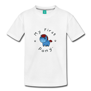 Toddler My First Pony T-Shirt (blue) - white