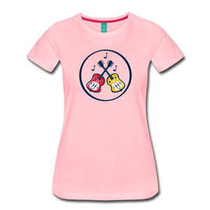 Women's Dueling Dobros T-Shirt - pink