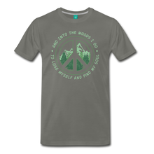 Load image into Gallery viewer, Men's Into the Woods I Go T-Shirt - asphalt