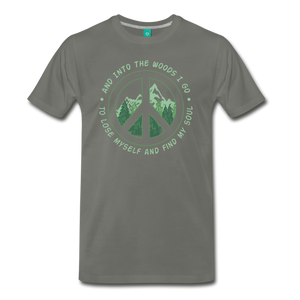 Men's Into the Woods I Go T-Shirt - asphalt