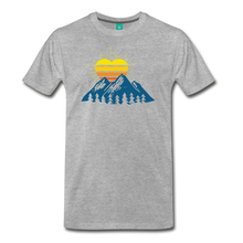 Load image into Gallery viewer, Men's Mountains Sun Heart T-Shirt - heather gray