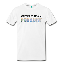 Load image into Gallery viewer, Men's Welcome to Paradise T-Shirt - white