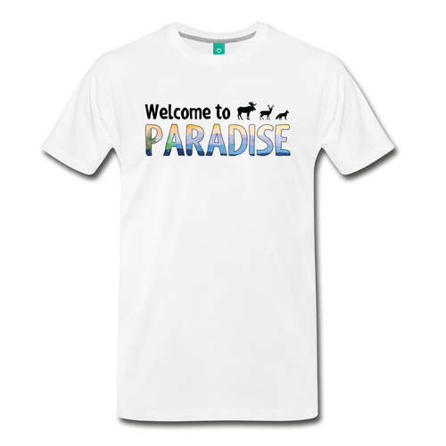 Men's Welcome to Paradise T-Shirt - white