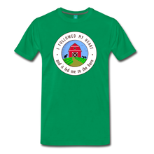 Load image into Gallery viewer, Men's Followed my Heart (colored) T-Shirt - kelly green