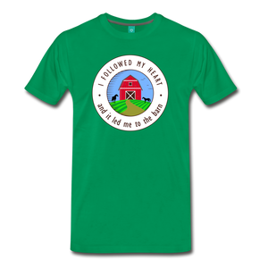 Men's Followed my Heart (colored) T-Shirt - kelly green