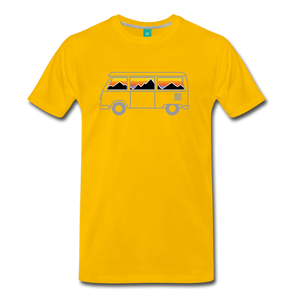 Men's Van Mountains T-Shirt - sun yellow