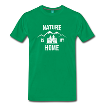 Load image into Gallery viewer, Men's Nature T-Shirt (white) - kelly green