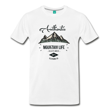 Load image into Gallery viewer, Men's Dark Authentic Mountain Life Clothing Co. T-Shirt - white