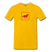 Load image into Gallery viewer, Men's Horse Icon T-Shirt - sun yellow