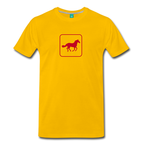 Men's Horse Icon T-Shirt - sun yellow