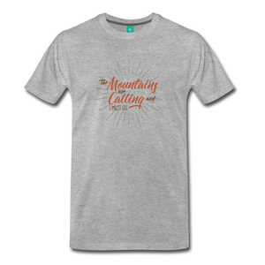 Men's Mountain Calling T-Shirt - heather gray