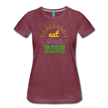 Load image into Gallery viewer, Women's Eat Sleep Ride T-Shirt - heather burgundy