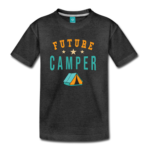 Kids' Future Camper T-Shirt - charcoal gray