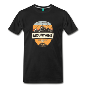 Men's Mountain's Calling T-Shirt - black