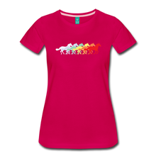 Load image into Gallery viewer, Women's Retro Rainbow Horse T-Shirt - dark pink