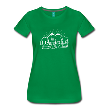 Load image into Gallery viewer, Women's Wanderlust T-Shirt (white) - kelly green