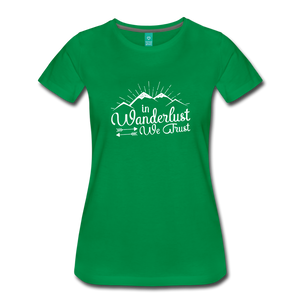 Women's Wanderlust T-Shirt (white) - kelly green