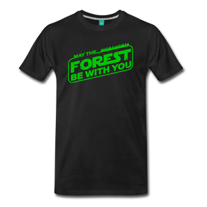 Men's May the Forest be with You T-Shirt - black