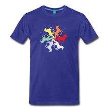 Load image into Gallery viewer, Men's Rainbow Horse Circle T-Shirt - royal blue