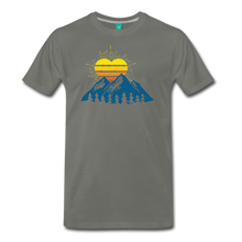 Load image into Gallery viewer, Men's Mountains Sun Heart T-Shirt - asphalt