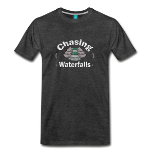 Men's Chasing Waterfalls T-Shirt - charcoal gray