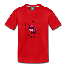 Load image into Gallery viewer, Toddler My First Pony T-Shirt (magenta) - red
